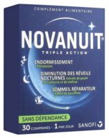 Novanuit Triple Action Comprimés B/30 à Entrelacs