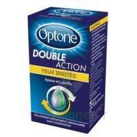 Optone Double Action Solution Oculaire Yeux Irrités Fl/10ml à Entrelacs