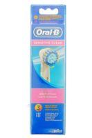 Brossette De Rechange Oral-b Sensitive Clean X 3 à Entrelacs
