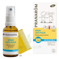 Pranarôm Aromapoux Bio Spray Anti-poux 30ml+peigne à Entrelacs