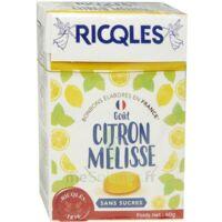 Ricqles Sucres Cuits Bonbon Citron Mélisse Sans Sucre B/40g à Entrelacs