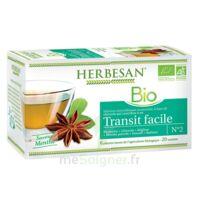 Herbesan Infusion Bio Tisane Transit Facile 20 Sachets à Entrelacs