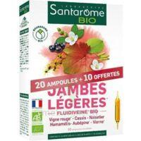 Santarome Bio Jambes Légères Solution Buvable 30 Ampoules/10ml à Entrelacs